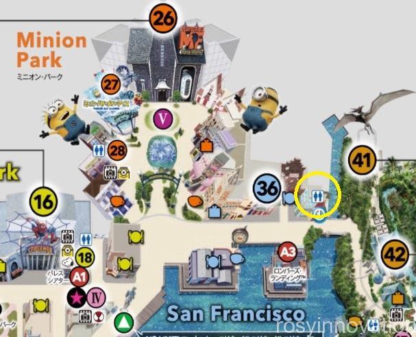 USJトイレマップ2021 (5)サンフランシスコエリア
