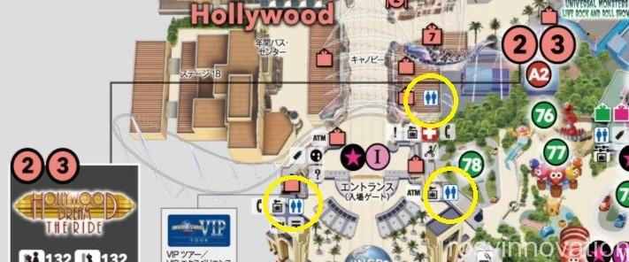 USJトイレマップ2021 (3)ハリウッドエリア