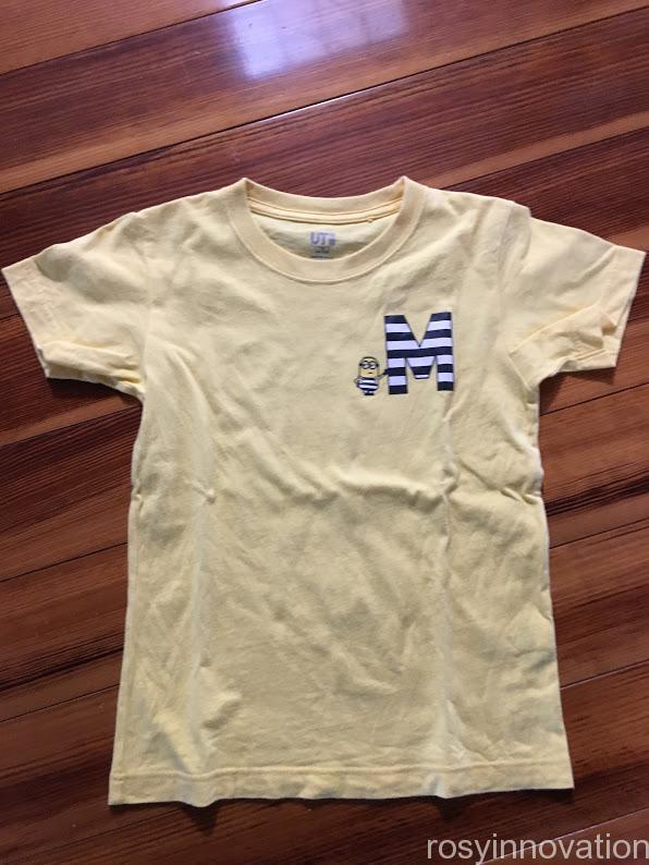ミニオンコーデ ユニクロTシャツ