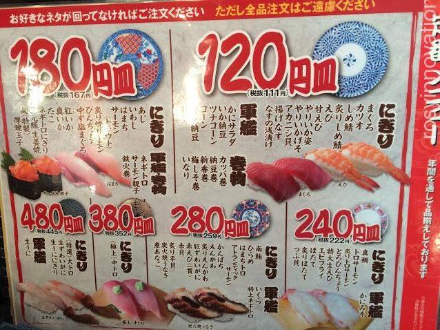 回転すし北海道2 値段