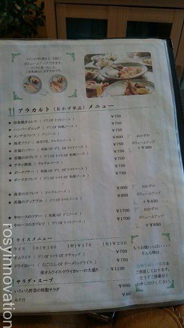 ルーアン10 メニュー表