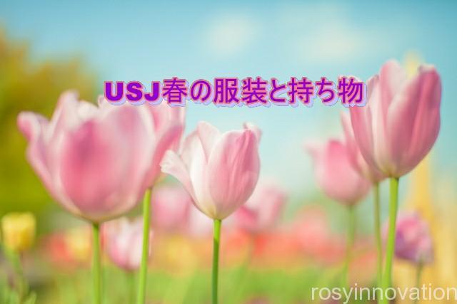 USJ春の服装と持ち物