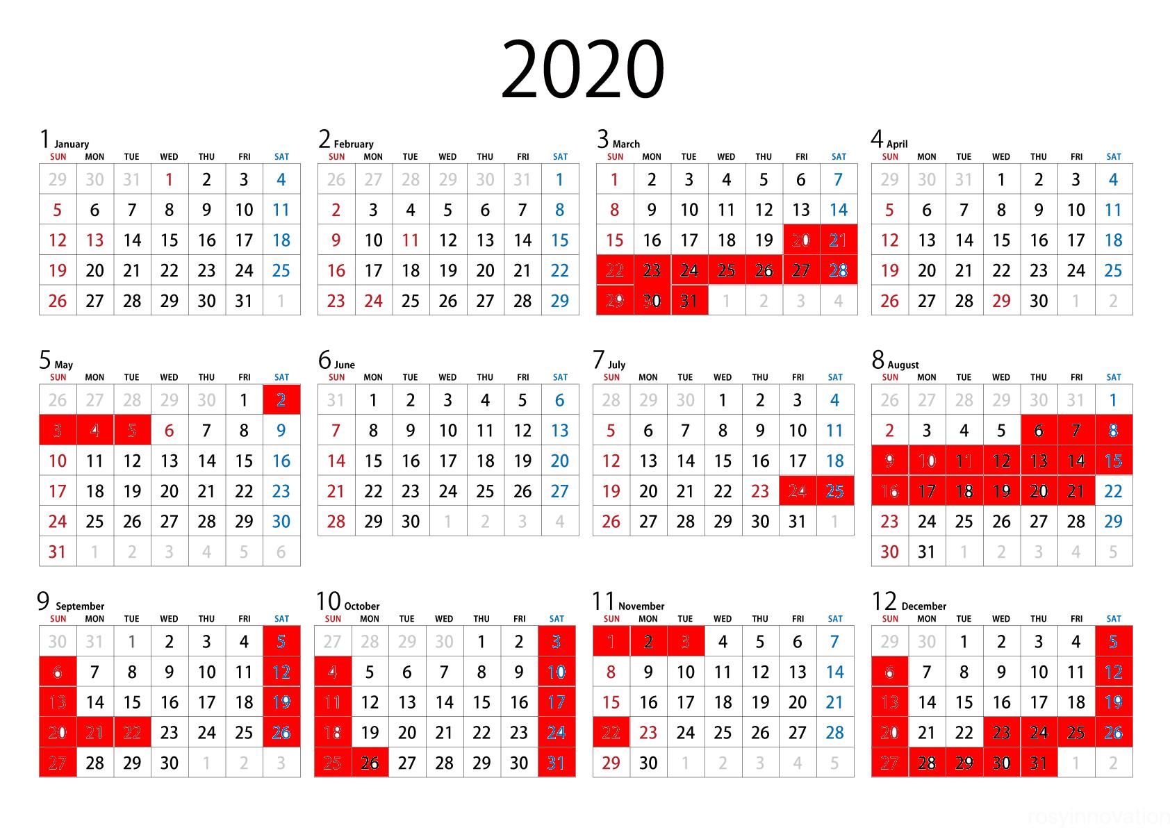 USJ年パスライト2020 (1)カレンダー