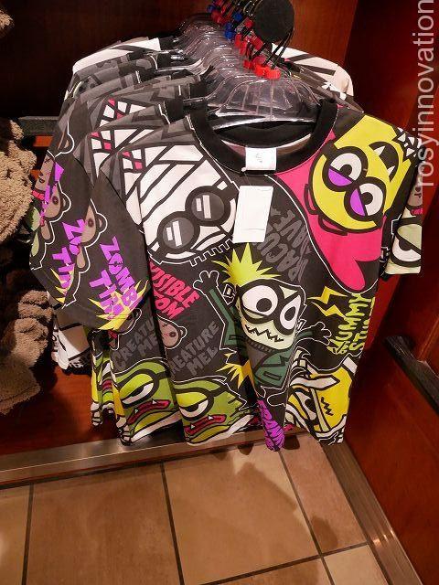ミニオングッズハロウィン201811 Tシャツ黒