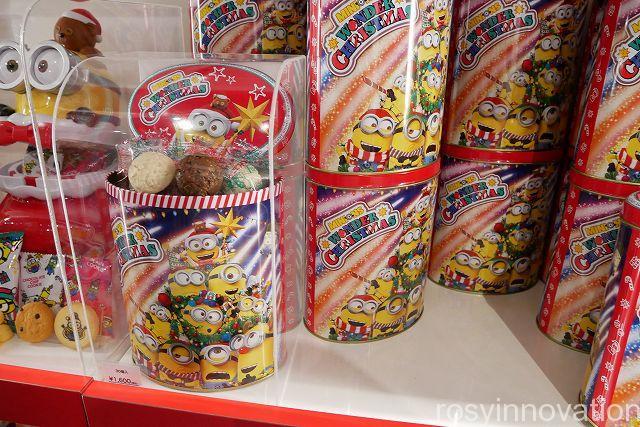 USJミニオンクリスマスグッズ201821 缶入りチョコ