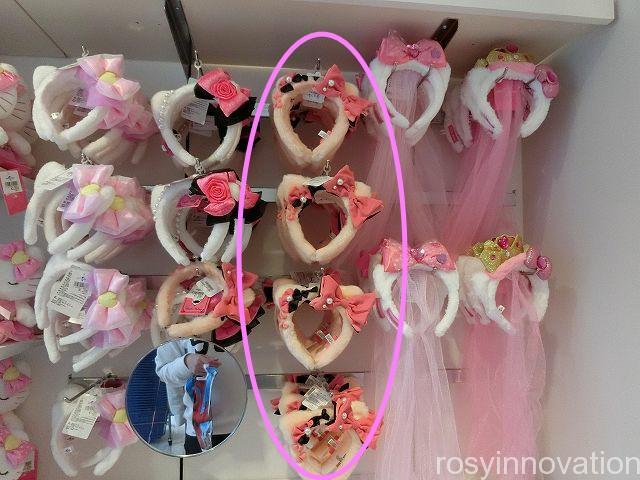 被り物 キティちゃんのカチューシャ3 ピンクとリボン