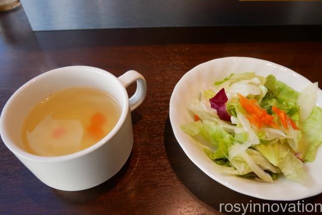 いきなりステーキ岡山下中野店7 サラダとスープ