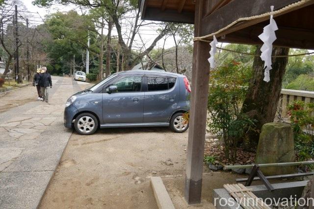 阿智神社2 駐車場