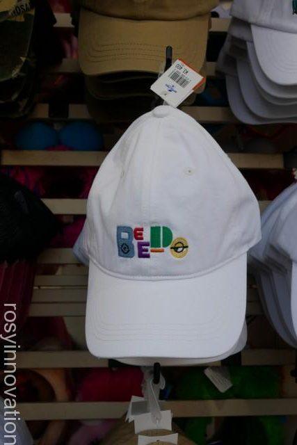 1ユニバ帽子201914 ミニオンの白キャップ
