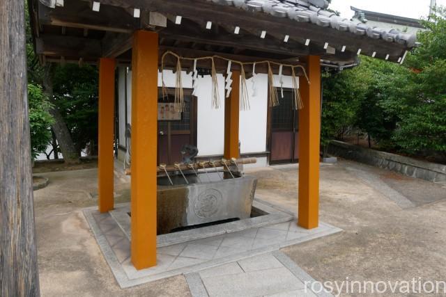 道通神社 (5)手水舎