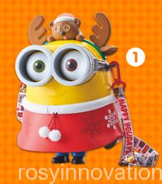 クリスマスフード トナカイ・ボブ&サンタ・ティム・ポップコーンバケツ