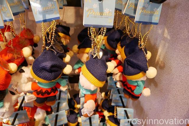 スヌーピーのクリスマスグッズSnow Crystal (5)ぬいぐるみキーチェーンチャーリーブラウン