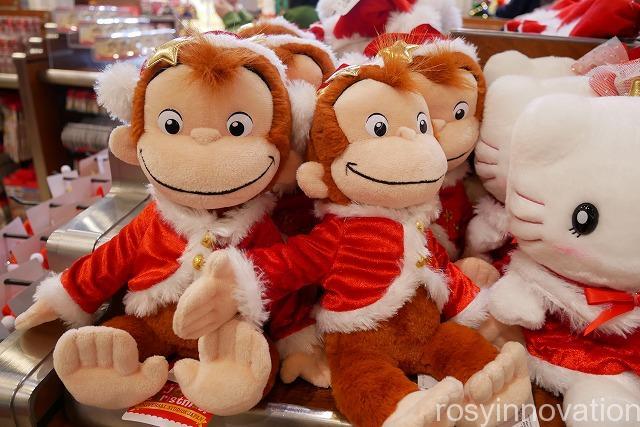 USJ クリスマスグッズ2019 THE CHRISTMASグッズ (8)おさるのジョージのぬいぐるみ