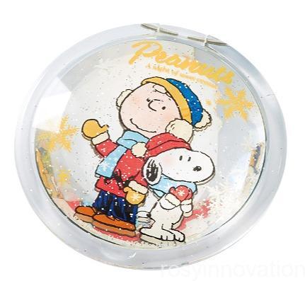 スヌーピーのクリスマスグッズSnow Crystal (45)コンパクトミラー