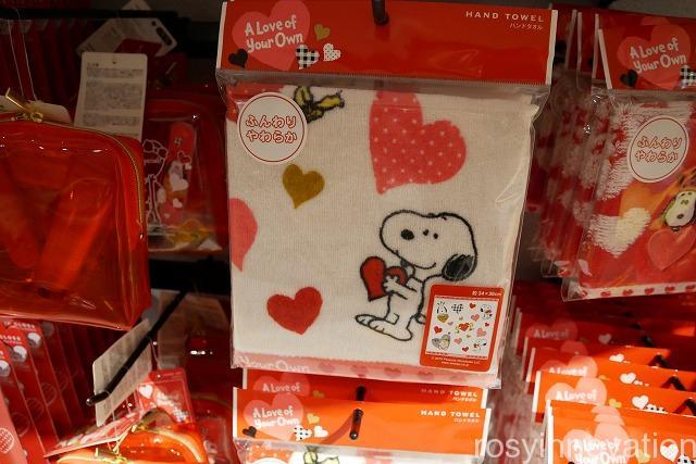 1USJスヌーピーバレンタインハートグッズSNOOPY ROMANCE種類と値段 (20)タオル