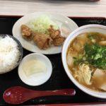 【岡山グルメ】らーめん夢民(ムーミン)総社で豚骨醤油拉麺&唐揚げ&ごはんセット
