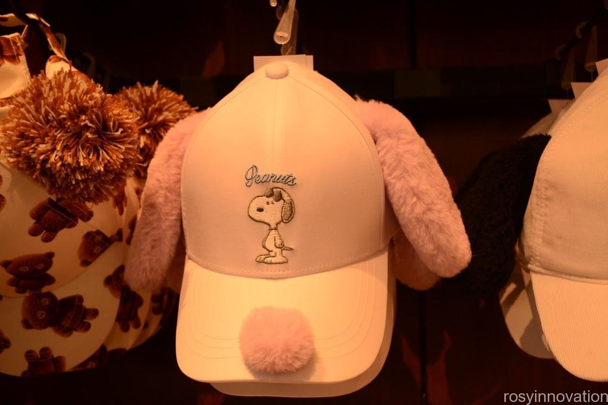 1ユニバ帽子キャップ2020夏 スヌーピーピンク