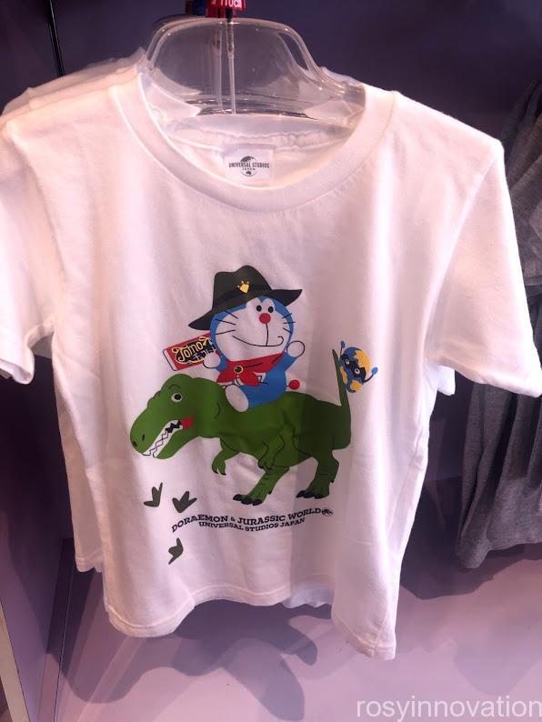 ドラえもん×USJジュラシックグッズ Tシャツ白キッズ