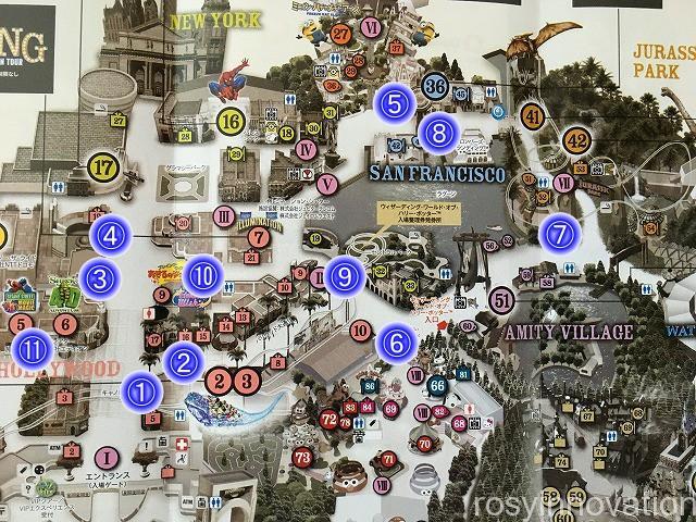 6USJポップコーンマップ2020年冬