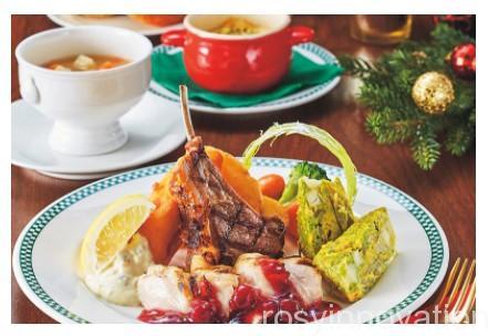 USJクリスマスフード2020 (9)レストランディナー