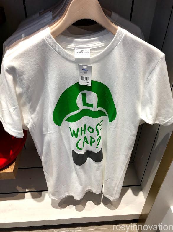 xマリオカフェ&ストアグッズ ルイージ Tシャツ白