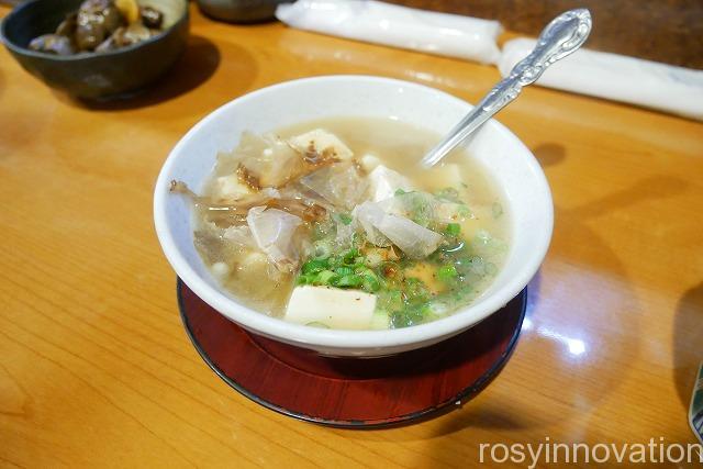 成田家平野店 庭瀬 (6)湯豆腐