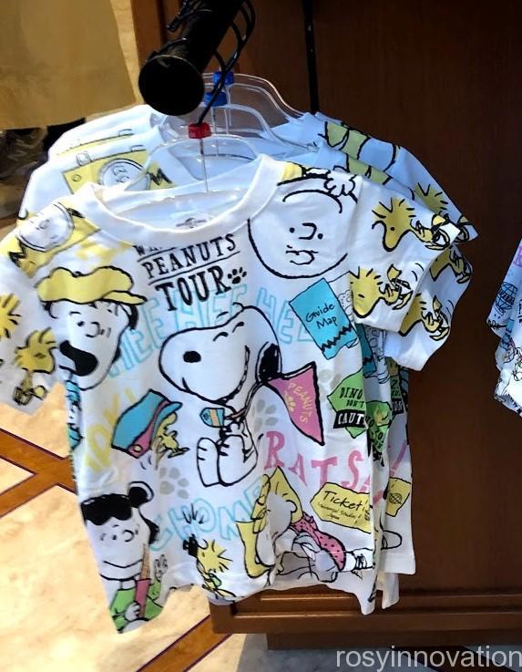 USJスヌーピーグッズ春夏の再販 WHAT A FUN PEANUTS TOUR (19)Tシャツ