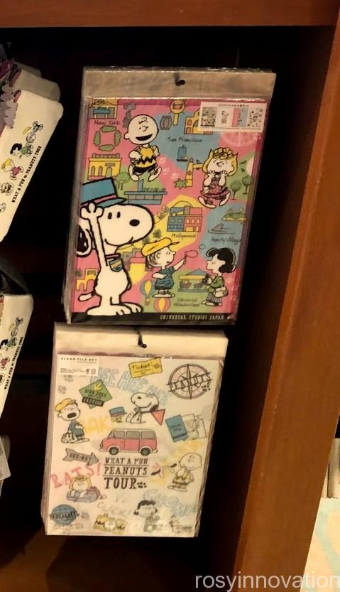 USJスヌーピーグッズ春夏の再販 WHAT A FUN PEANUTS TOUR (10)クリアファイル
