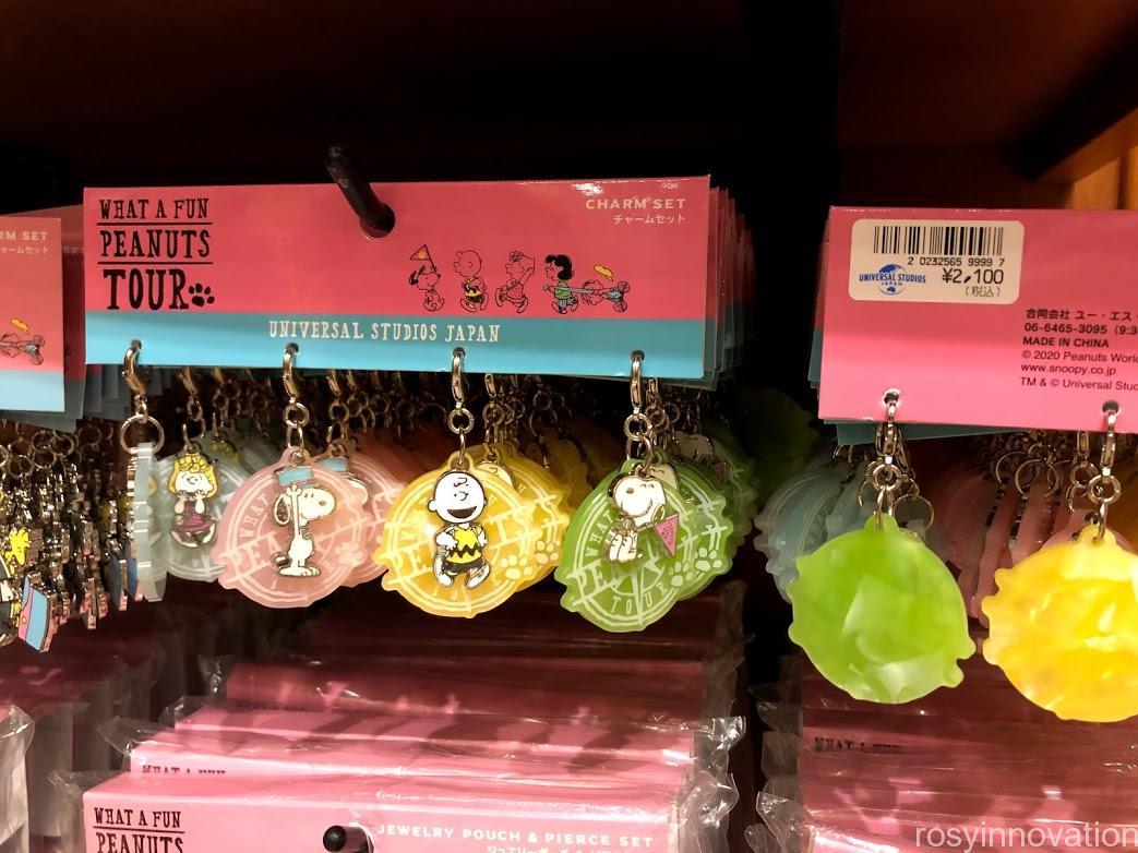 ユニバ スヌーピーグッズ春夏の再販 WHAT A FUN PEANUTS TOUR (0)チャームセット4個