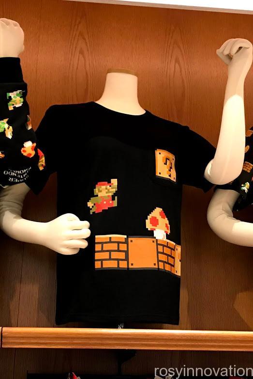 xUSJ新作マリオグッズカリフォルニアコンフェクショナリーファミコン世代 ポケットTシャツ
