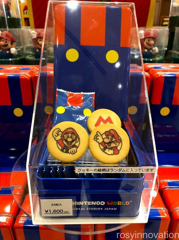 USJワンナップマリオグッズ お菓子マリオ缶クッキー