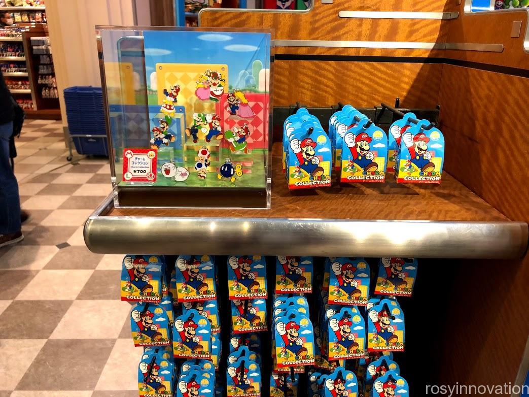 USJpワンナップマリオグッズ キーホルダーチャームコレクション箱