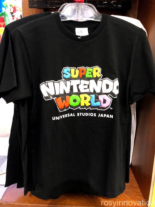 USJワンナップマリオグッズ ファッションTシャツ黒