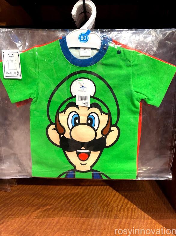 USJ任天堂マリオグッズワンナップ2.8キッズファッション ルイージTシャツ