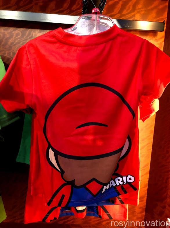 USJワンナップマリオグッズ ファッションTシャツフェイスマリオ裏