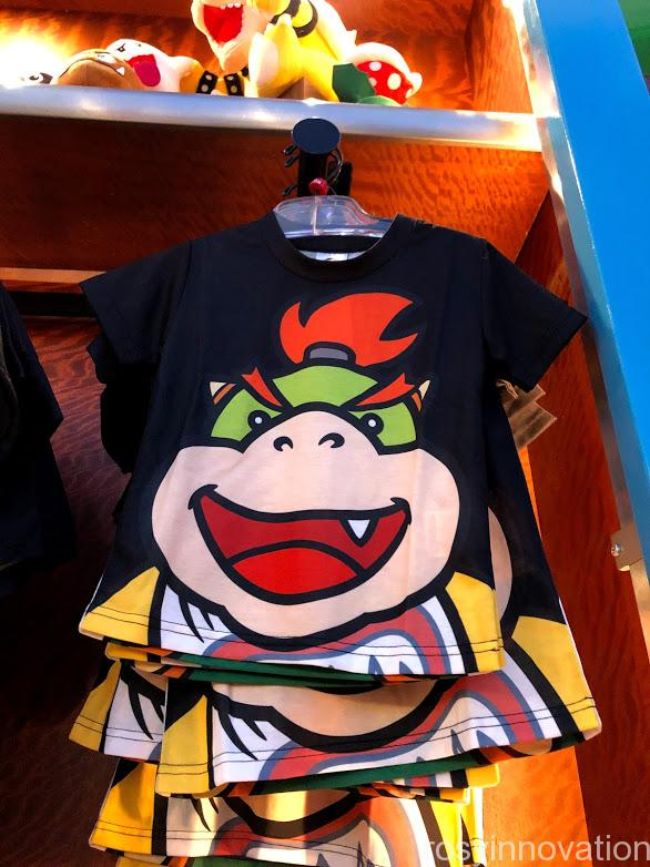 USJワンナップマリオグッズ ファッションTシャツフェイスクッパジュニア