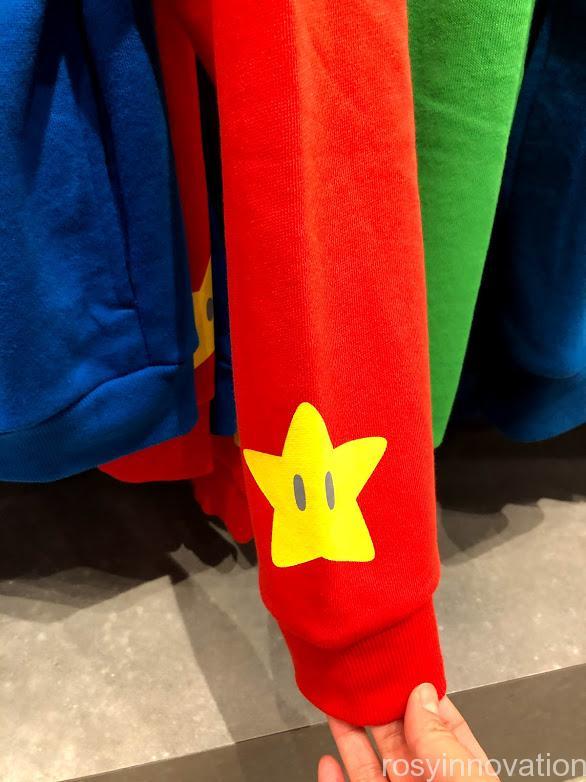 USJ任天堂マリオグッズワンナップ2.8ファッション マリオパーカー袖