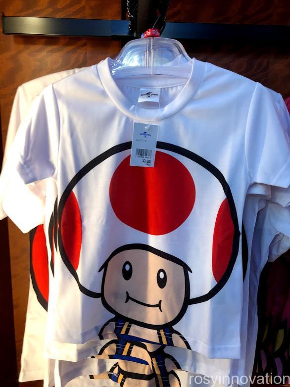 USJワンナップマリオグッズ ファッションTシャツフェイスキノピオ表
