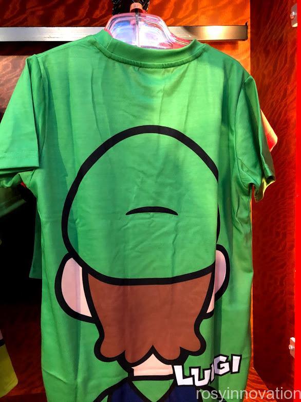 USJワンナップマリオグッズ ファッションTシャツフェイスルイージ裏