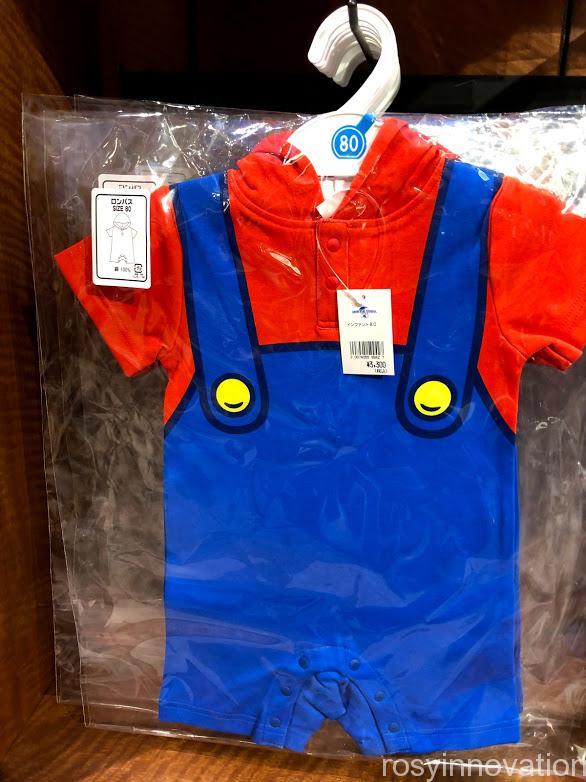 USJワンナップマリオグッズ ファッションキッズロンパースマリオ