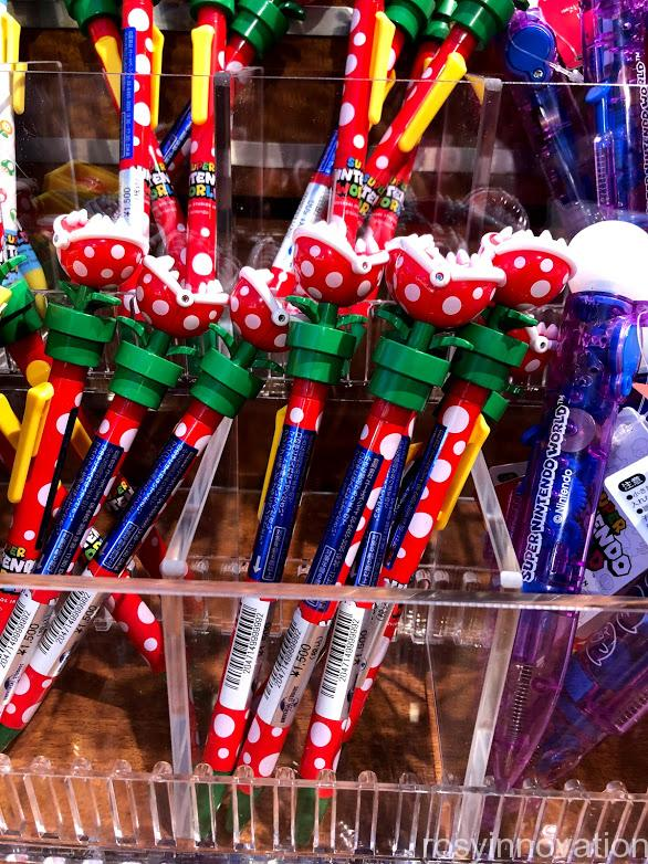 USJワンナップマリオグッズ 文房具ボールペン仕掛けパックンフラワー花