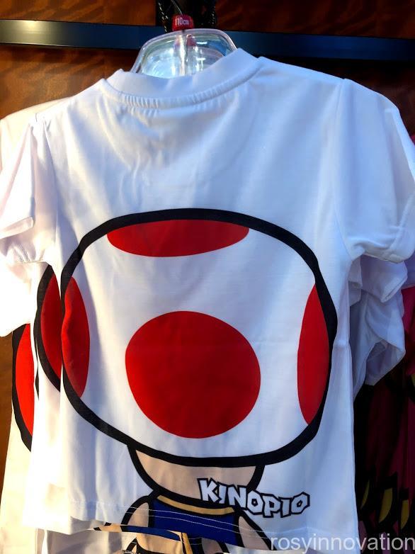 USJワンナップマリオグッズ ファッションTシャツフェイスキノピオ裏
