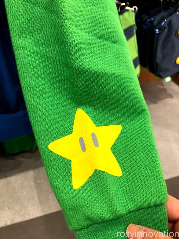 USJ任天堂マリオグッズワンナップ2.8ファッション ルイージパーカー袖