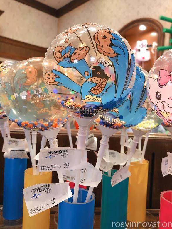 ユニバ20周年グッズ クッキーモンスター風船