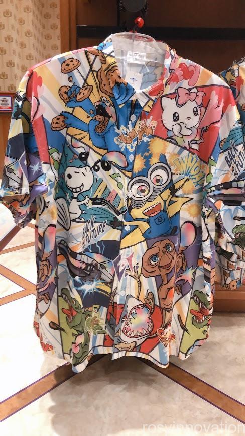 ユニバ20周年グッズ ファッション キャラクターシャツ