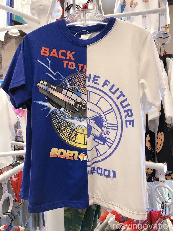 ユニバ20周年グッズ ファッション バックトゥザフューチャーシャツ