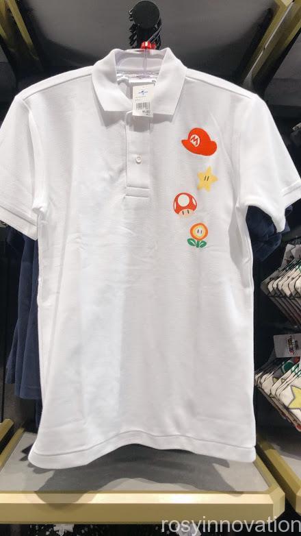4.5マリオワンナップファクトリーグッズ ファッション ポロシャツ白