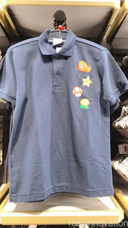 4.5マリオワンナップファクトリーグッズ ファッション ポロシャツネイビー