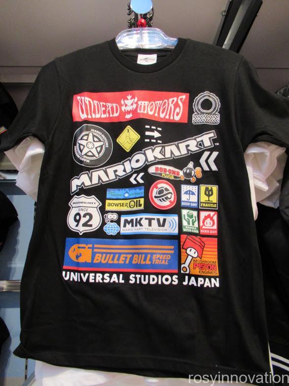 4月マリオワンナップファクトリーグッズ ファッション Tシャツマリオモーターズ黒
