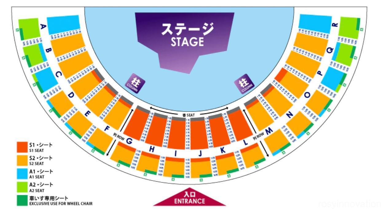 USJワンピースプレミアショー2021 座席表